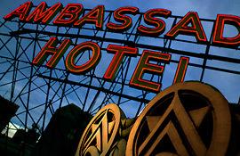 Ambassador Hotel neon sign