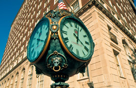 Brown Hotel outdoor clock