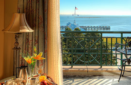 HarborView Inn balcony with Harbor view