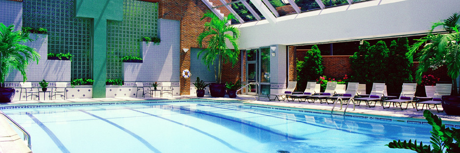 The atrium-style indoor pool