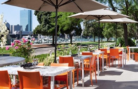 Royal Sonesta Boston patio by the Charles